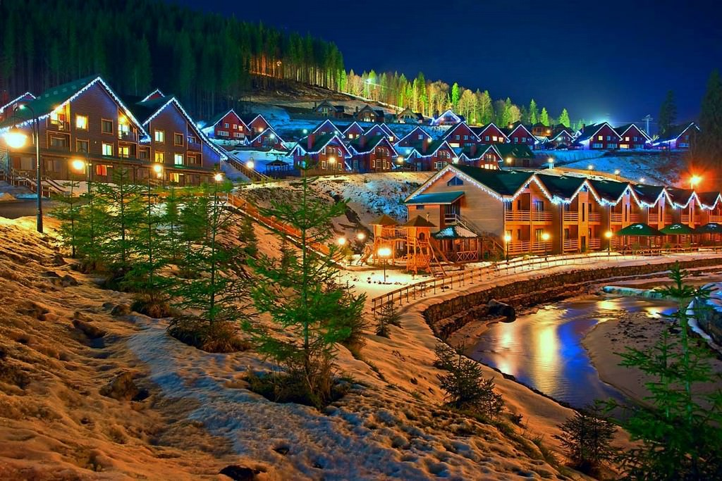 Курорт Буковель, чудесный зимний отпуск.